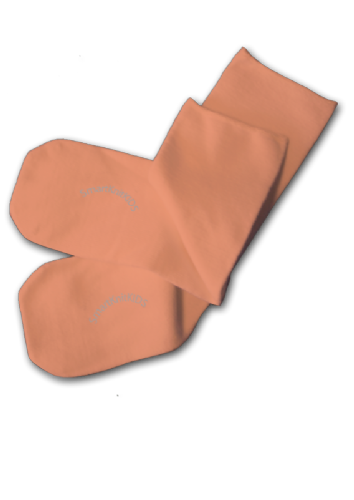 Absolutely Seamless Socks - SmartKnitKIDS Ultimate Comfort sock: Peach (Orange)